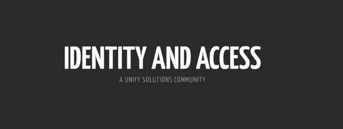 Identity and Access Community Launched